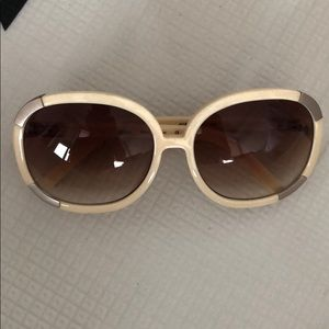 Chloe oversized cream sunglasses
